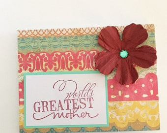 Mother's Day Card Flower