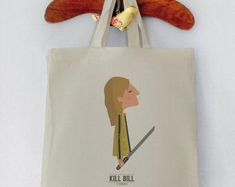 "Bolsa de tela "" Kill Bill "". Basada en la película de Tarantino."