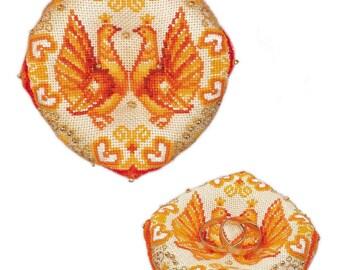 Wedding Ring Pillow - Cross Stitch Kit from RIOLIS Ref. no.:1474AC