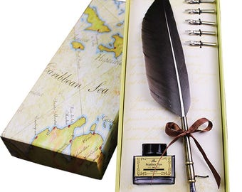 European Retro Style Quill Pen Goose Feather Dip Pen Antique Writing Quill Pen