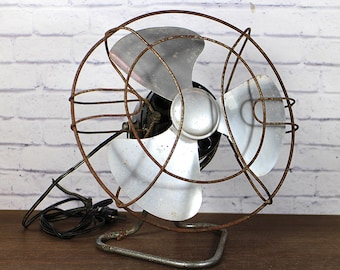 Vintage Electric Fan - Table fan - Industrial decor - Industrial decor style - Retro Decor - Retro Decor Accessories - Retro Electrical fan
