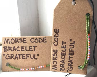Grateful Morse Code Jewelry