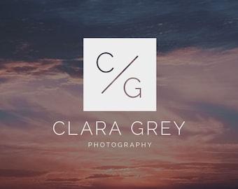 Modern Logo Design |Photography Logo and Watermark | Photography Initials Logo | Photography Watermark | Premade Logo | Watermark Design