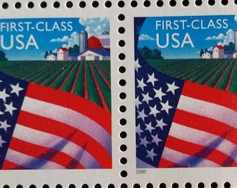 Flag Over Farm*US Postage Stamps*Unused Mint Condition*Scott #3448*Pane of 20*American Agricultural Collectible Memorabilia
