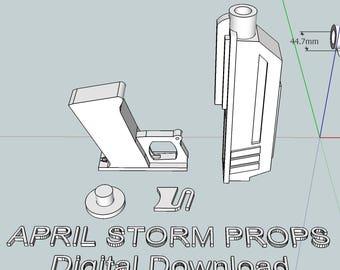 DC-17 Animated Clone Trooper Blaster - 3D print file - Digital Download