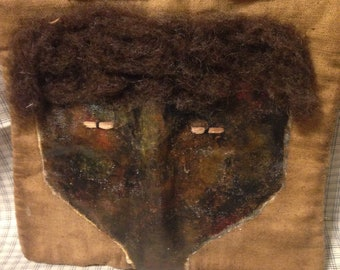 Extreme Primitive Grungy Black Doll Face candle Mat OFG TEAM FWB
