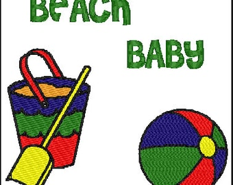 Beach Baby Embroidery Design combo