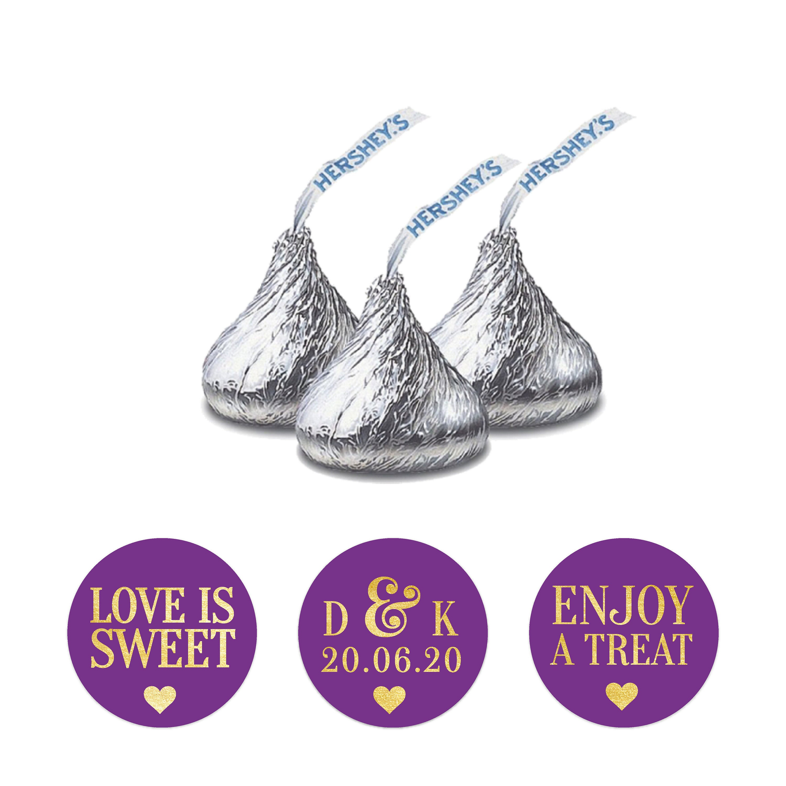 117 Custom stickers, Cute stickers, Hershey kisses personalized ...