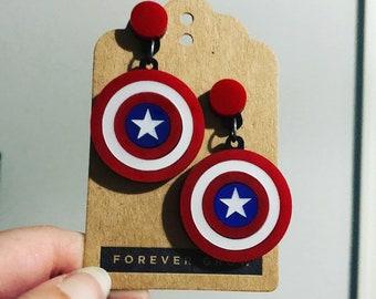 PREORDER Shield earrings