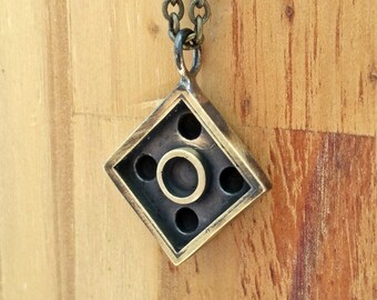 Apocalyptic-Brick necklace-2*2 -Gift for him-for her-Rugged-Rustic-grange-Burning Man-Cool-Gift-MJ