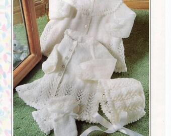 75a561c3b35e Baby Knitting Pattern pdf download Baby Matinee Coats Matinee ...
