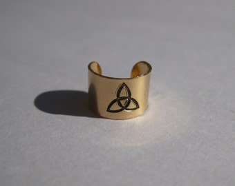 Celtic Triquetra Symbol - Gold Filled Ear Cuff
