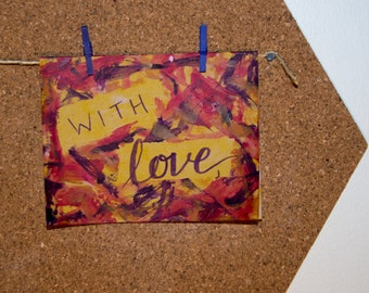with love - handmade greeting card