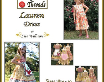 INSTANT DOWNLOAD: Lauren Dress - diy Tutorial pdf eBook Pattern - Sizes 18M to 10