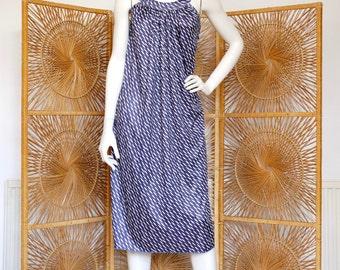 Blue 90's Patterned Dress