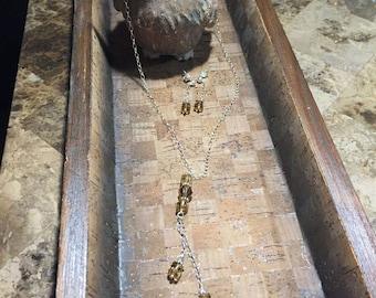 Champagne Color Swarovski Crystals Necklace