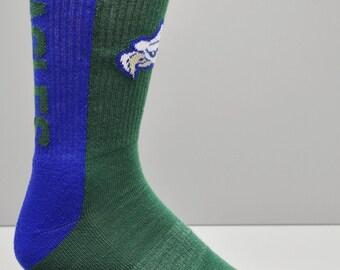 Authentic Sox Eagles Team Socks Blue & Green Men's Socks