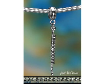 Sterling Silver Flute Charm or European Style Charm Bracelet Solid 925