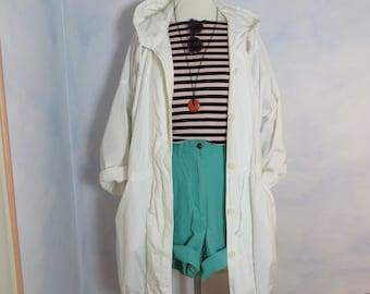 1980 's Vintage hooded parka oversize coat jacket Anorak coat for spring summer