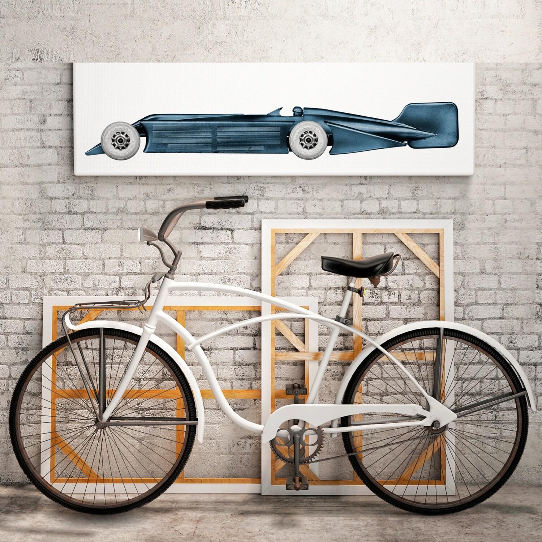 art deco decor toy race car vintage car prints art. Black Bedroom Furniture Sets. Home Design Ideas