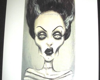 Bride of Frankenstein Greeting Card - Lori Gutierrez OOAK Art!!