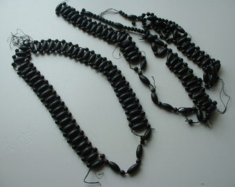 Victorian mourning necklaces re-purpose