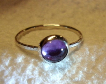 Alexandrite Ring  Silver ring - blue violet to rose purple - eco friendly recycled .925 sterling silver - custom size