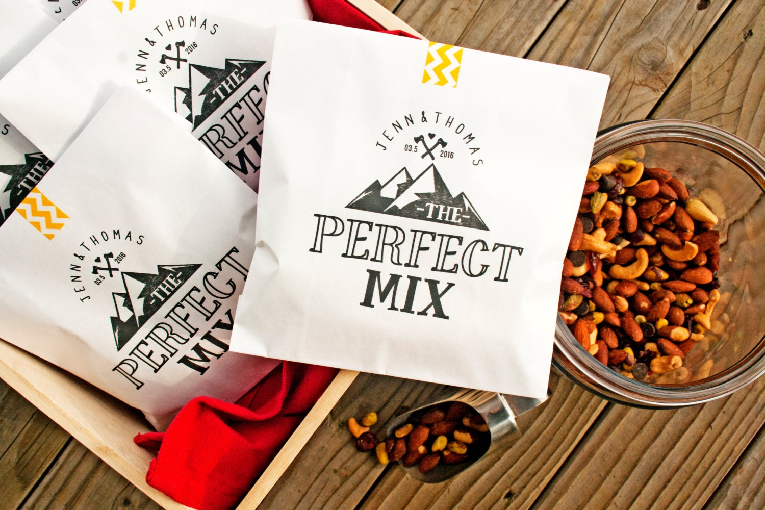 Trail Mix Wedding Favor Bags The Perfect Mix