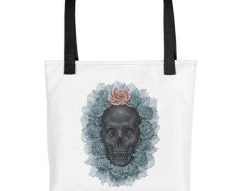 Flower Skull Tote