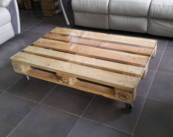 Low one industrial pallet table