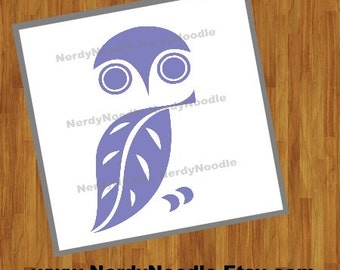 Owl Decal, Owl Car Decal, Owl Sticker, Owl Laptop Decal, Owl Cup Decal, Owl Tumbler Decal - You choose size and color