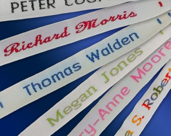 36x Woven Sew-on Name Tapes
