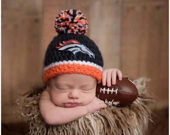 Denver Broncos baby boy, girl, newborn, preemie, hat