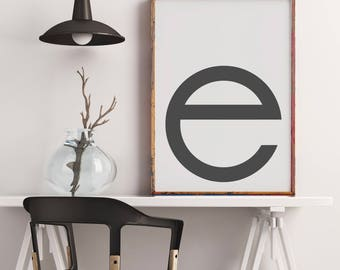 Poster: typolove - Monogram / Letter E no. 1