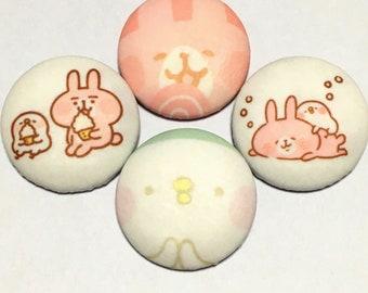 "covered button set  ""kanahei animals-ish"" (1) kawaii button"