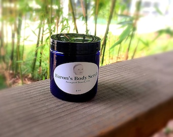 Baron's Body Scrub is an all-natural, hand crafted coffee body scrub that will leave your skin soft, smooth & luxurious.