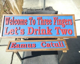 Sign, Rustic, Reclaimed Cedar, Custom Designed, Carved, 3 Dimensional, Weather Resistant Marine Finish.                    Various colors,