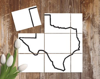 Large Paper Texas Stencil - Hand Drawn DIY Wooden Pallet Metal Texas Sign