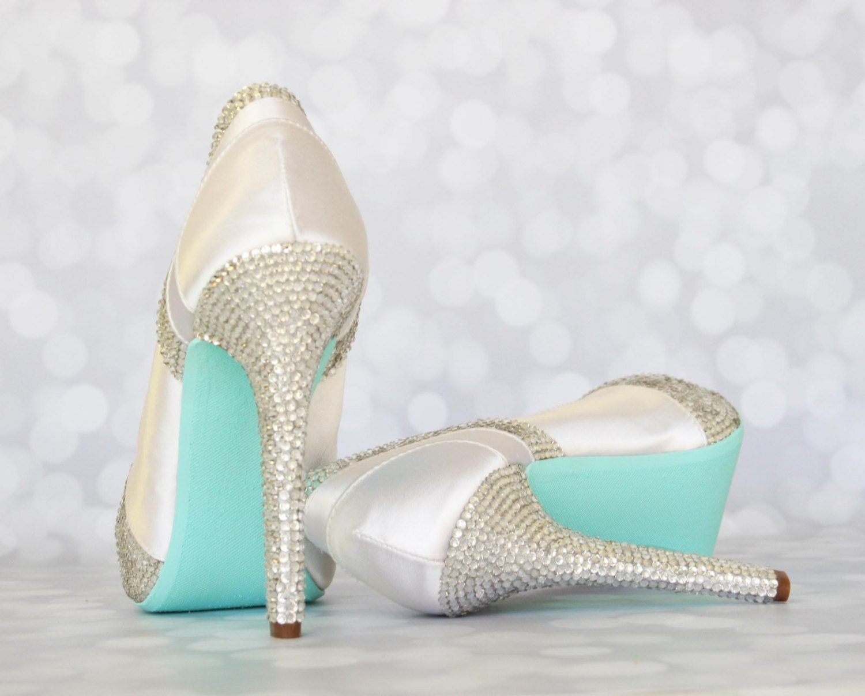 CUSTOM CONSULTATION: Wedding Shoes White Wedding Crystal