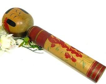 Large Vintage Japanese Wooden Kokeshi Doll