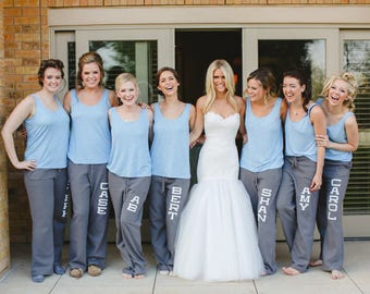 Personalized Wedding Sweatpants - Bridesmaid Gift - Will You Be My Bridesmaid - sister9designs