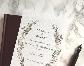 Natasha Wedding Invitation Suite