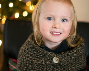 Cozy Cowl Crocheted Little Rock Granite Photo Prop Scarf Shawl Winter Toddler Child Preteen/Teen