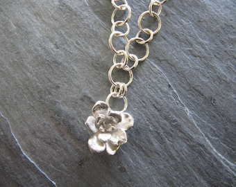 Necklace with Cast Succulent on Silver Chain