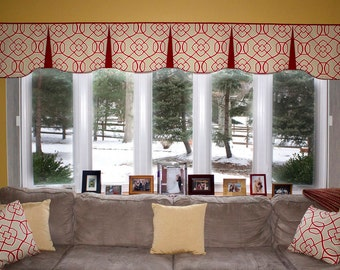 "Custom Wide Width Pleated EMILEE  Hidden Rod Pocket® Valance fits 81""- 108"" window, LABOR and lining only, you provide the fabrics"