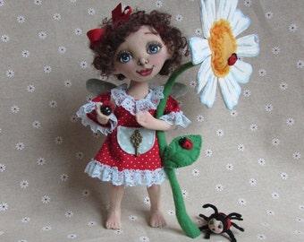 Rag Doll, Fairy Doll, textile Doll, Girl Gift, Handmade doll