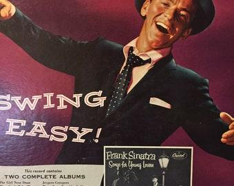 "Frank Sinatra ""Swing Easy"" Vintage  LP Music Album"