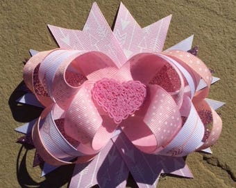 Valentine Bow - Lace Heart