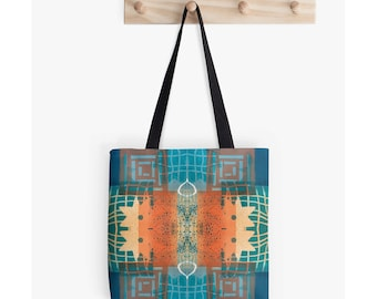 Carry All Bag, Craft Tote Bag, Market Tote, Unique Back to School Supplies, Best Gifts for Artists, Boho Bag, Festival Bag, All Purpose Tote
