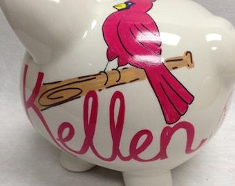 Personalized Piggy Bank MLB Baseball